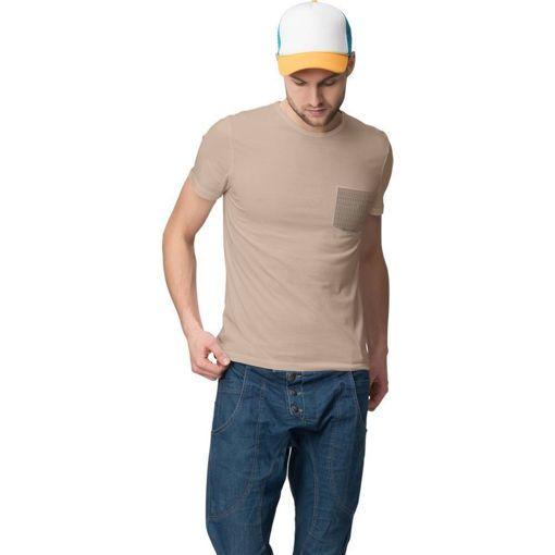 """Ανδρικό T-shirt """"Plaid Pocket"""" Battery Μπεζ"""