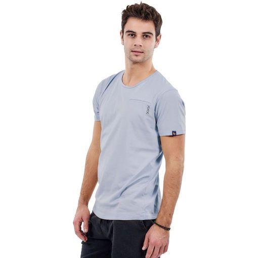 """Ανδρικό T-shirt """"Pocket Stitch"""" Battery Σιέλ"""