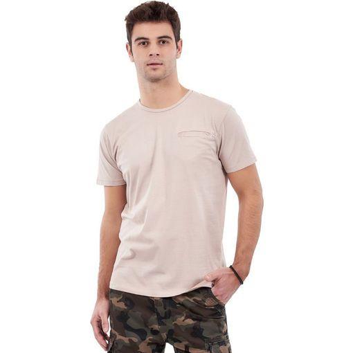 """Ανδρικό T-Shirt """"Hidden Pocket""""  Greenwood Ροζ"""