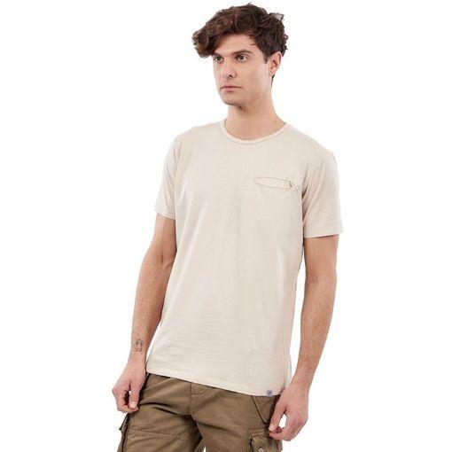 """Ανδρικό T-Shirt """"Hidden Pocket""""  Greenwood Μπεζ"""