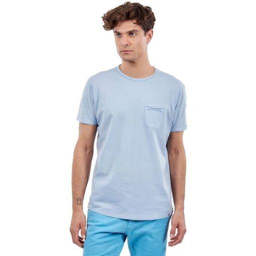 """Ανδρικό T-Shirt  """"Pocket On Chest"""" Greenwood Σιέλ"""