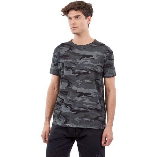 """Ανδρικό  T-Shirt """"Platoon""""  Greenwood Μαύρο Army Print"""