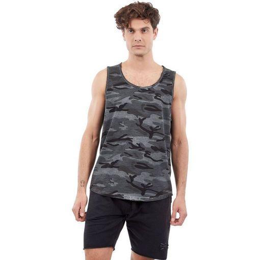 """Ανδρικό Αμάνικο T-Shirt """"Gunner"""" Greenwood Μαύρο Army Print"""
