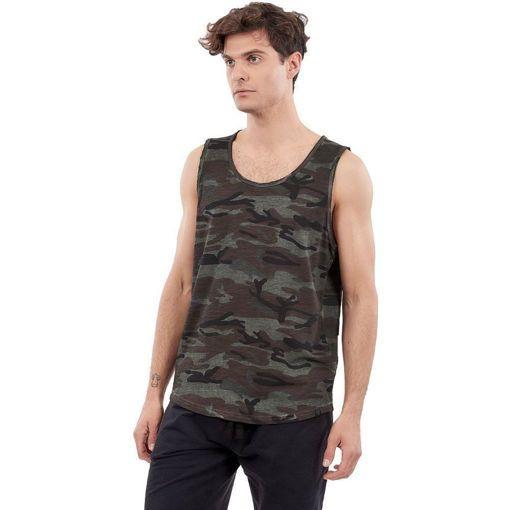 """Ανδρικό Αμάνικο T-Shirt """"Gunner"""" Greenwood Χακί Army Print"""