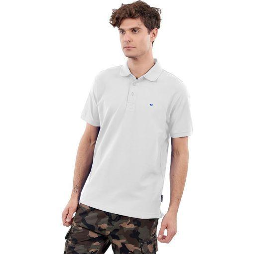 Ανδρική Μπλούζα Polo Άσπρη Greenwood