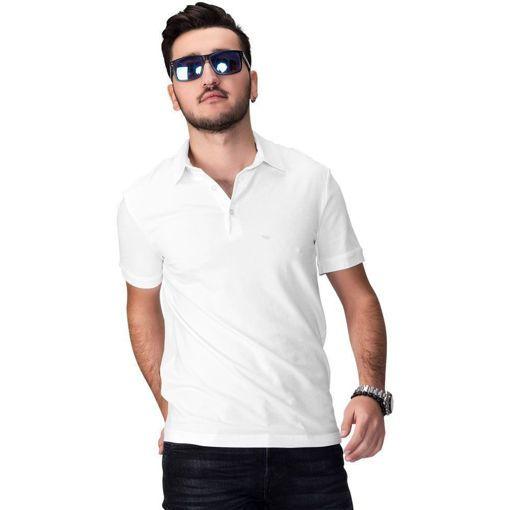 """Ανδρική Μπλούζα Polo """"Simplicity"""" Run Άσπρη"""