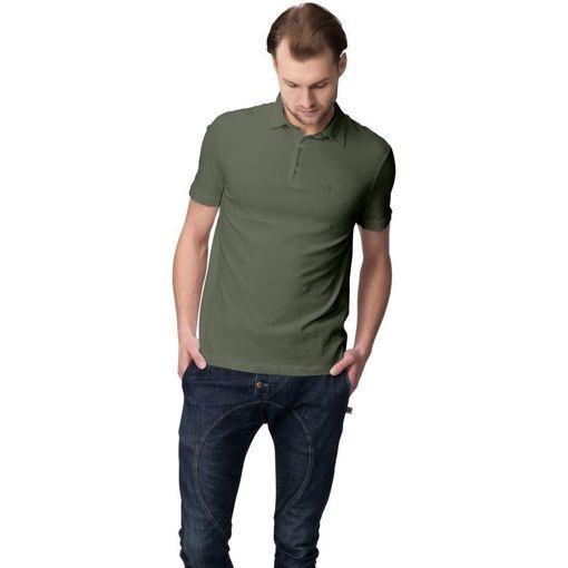 """Ανδρική Μπλούζα Polo """"Simplicity"""" Run Χακί"""