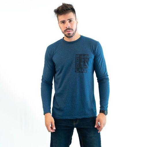 Ανδρική Μπλούζα Μακρυμάνικη Greenwood Μπλε