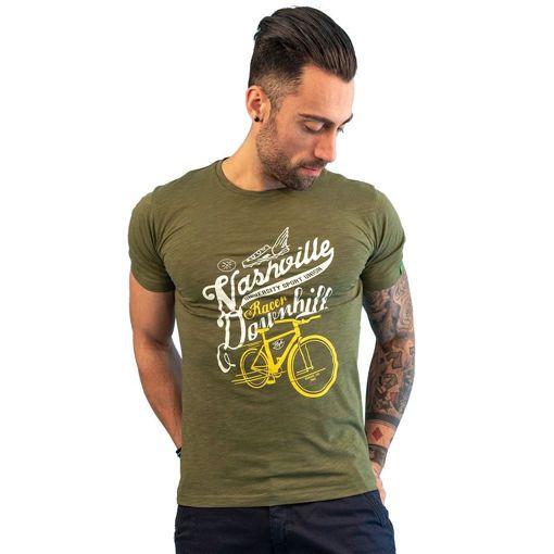 """Ανδρικό T-Shirt  """"Downhill Racer"""" Greenwood"""
