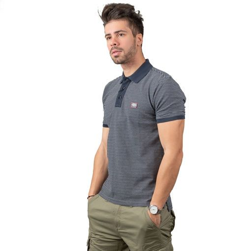 Polo Pique Yarn Dyed Classic Striped