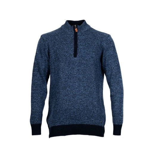 Ανδρική πλεκτή half zip μπλούζα RUN