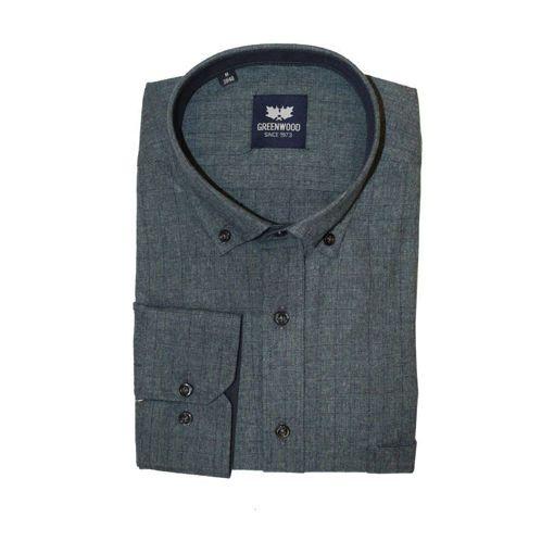 Ανδρικό μονόχρωμο μακρυμάνικο πουκάμισο Greenwood Anthracite