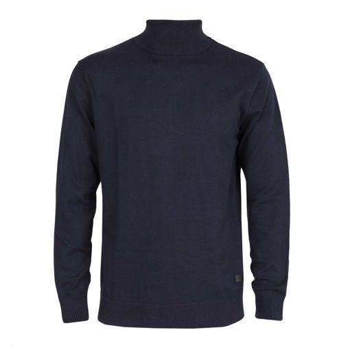 Ανδρική πλεκτή ζιβάγκο μπλούζα RUN Navy
