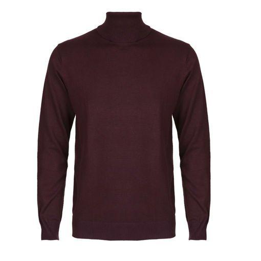 Ανδρική πλεκτή ζιβάγκο μπλούζα RUN Μπορντό