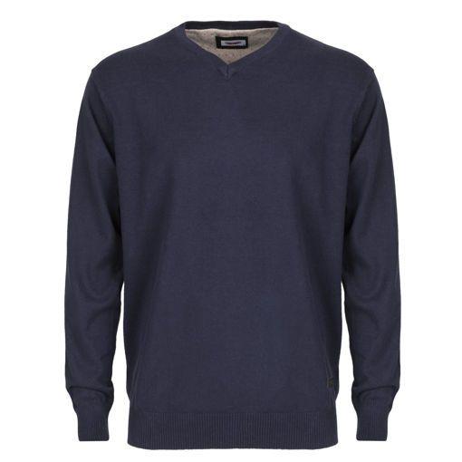 Ανδρική πλεκτή μπλούζα RUN Navy