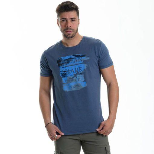 """Ανδρικό βαμβακερό T-shirt Ocean Shark """"Authentic"""""""