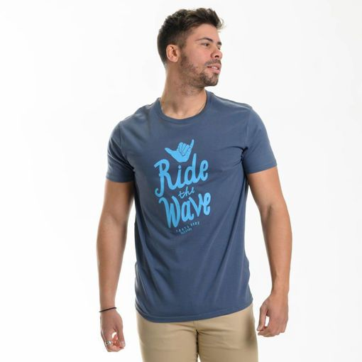 """Ανδρικό βαμβακερό T-shirt Battery """"Ride The Wave"""""""
