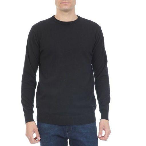 Ανδρική πλεκτή μπλούζα RUN Μαύρο