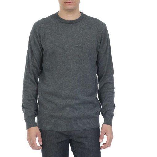 Ανδρική πλεκτή μπλούζα RUN Γκρι