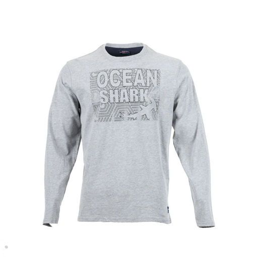Ανδρική Μπλούζα Μακρυμάνικη Ocean Shark με Στάμπα